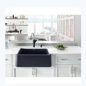 ejoy best price xw7648 custom design granite composite farmhouse sink