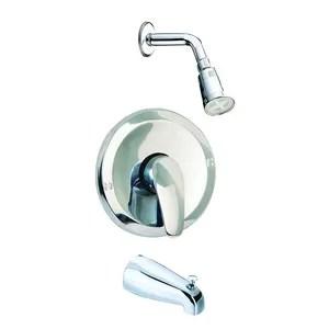 zinc handle tub shower upc parts automatic shower faucet
