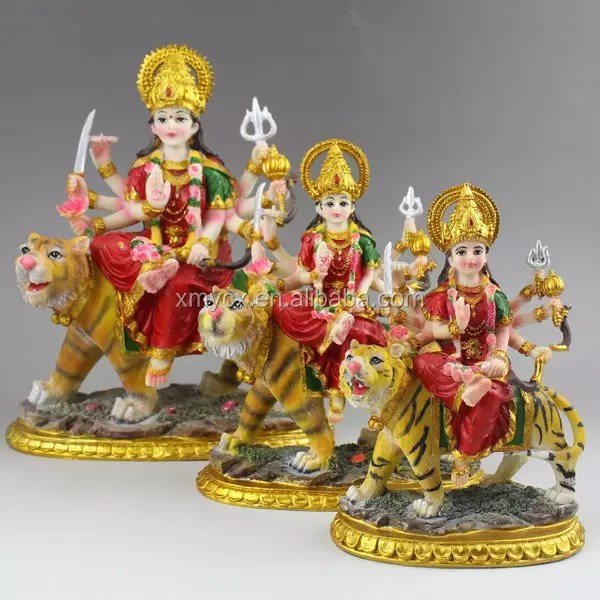 Wholesale Resin Hinduism God Goddess Statues Maa Durga On Tiger Buy Hinduism God Durga On Tiger Resin God Product On Alibaba Com