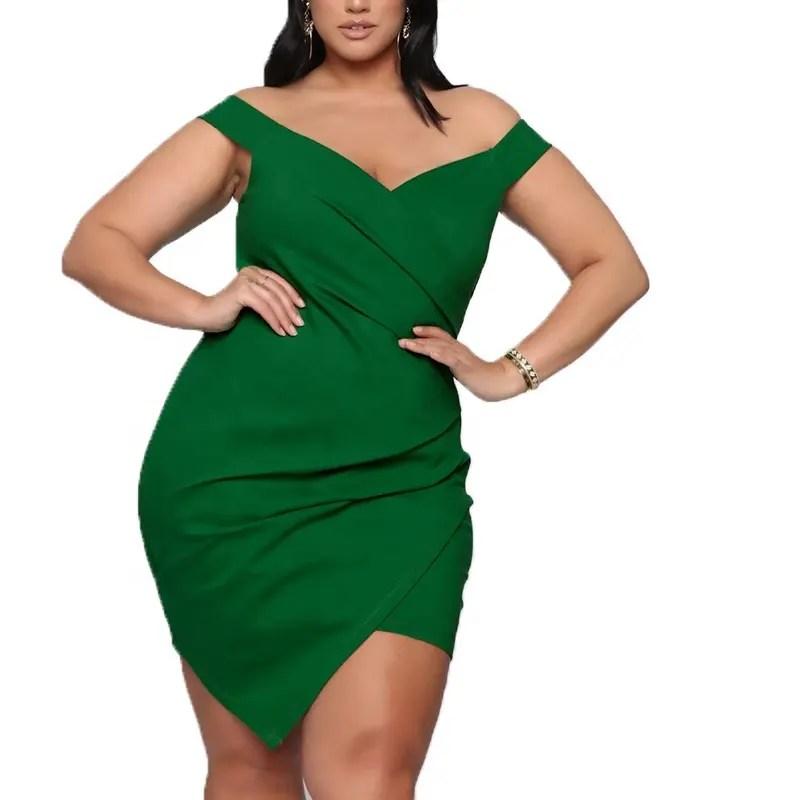 Vestidos decotados Plus Size 2022