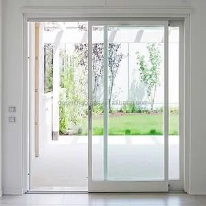 gaoming puerta corredera de vidrio templado ensamblaje de fabrica diseno de parrilla para puerta de vidrio deslizante