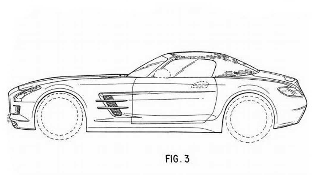 2010 Mercedes-Benz SLS AMG Roadster patent office sketches
