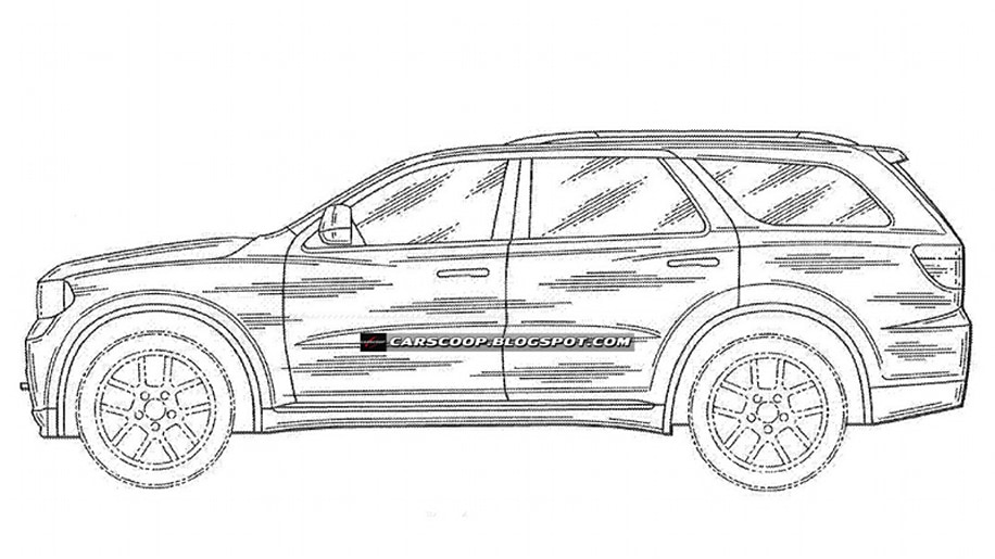 Patent drawings reveal Durango-replacing 2012 Dodge Magnum