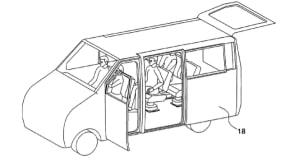 Hyundai gullwing door patent blends VW camper, Tesla Model