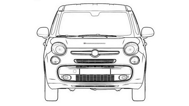 Fiat 500XL patent filings and styling model Photo Gallery