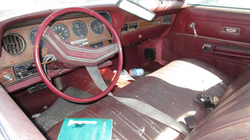 medium resolution of the interior of this one is a symphony in bordello red plastic and vinyl ford called this interior color russet