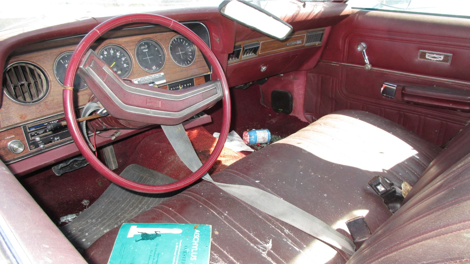 hight resolution of the interior of this one is a symphony in bordello red plastic and vinyl ford called this interior color russet