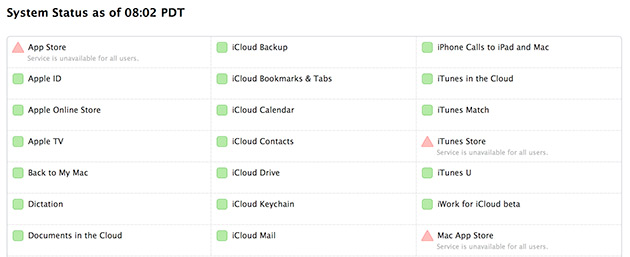Las App Store y iTunes Store llevan caídas desde hace