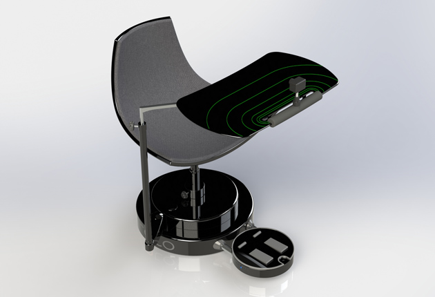 swivel chair vr purple covers how a spinning made virtual reality feel more real one of the issues with swiveling around in while wearing tethered headset like oculus rift is getting tangled up cables which why