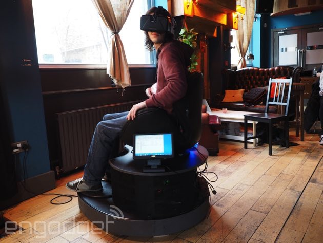 swivel chair vr big oversized how a spinning made virtual reality feel more real