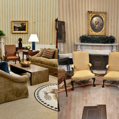 Oval Office Chair Fully Adjustable See The Changes Donald Trump Made To Aol Lifestyle Credit Getty
