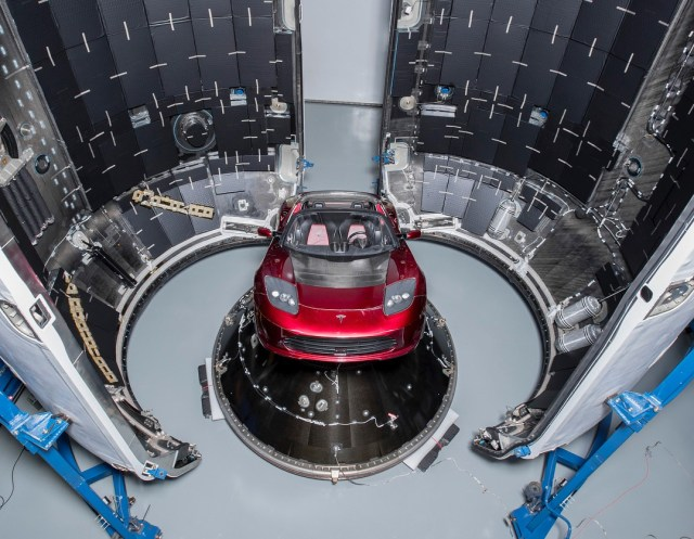 Image result for SpaceX's Falcon Heavy launch gets a spacesuit-clad 'Starman'