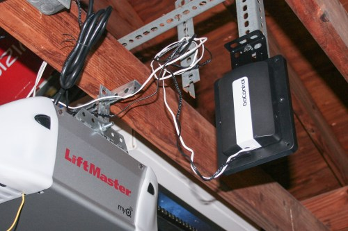 small resolution of the gocontrol s option to mount the device onto the garage door s hardware makes installation a lot easier photo jennifer pattison tuohy