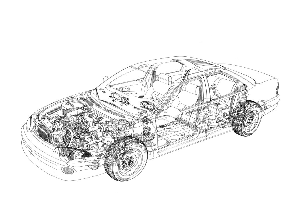 Dodge Intrepid 1992, 1993, 1994, 1995, 1996, седан, 1