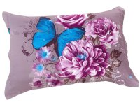 Elegant Purple Flower with butterfly Print 4 Piece Bedding ...