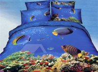 Underwater World Fish and Coral Tree Print Duvet Cover ...