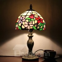 Tiffany Style Floral Pattern Stained Glass Table Lamp ...