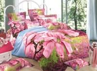 Pink Magnolia Print 3D Duvet Cover Sets - beddinginn.com