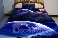 Blue Celestial Body Print 4-Piece Duvet Cover Sets ...