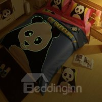 Novel Luminous Baby Panda Print 4