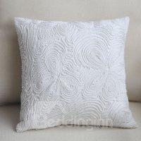 Luxury Hand Made European Style Pure White Throw Pillow ...