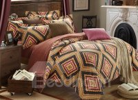 Vintage Tribal Pattern 4-Piece Carla Velvet Duvet Cover ...