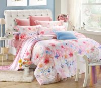 Flower and Butterfly Print 4-Piece Tencel Duvet Cover Sets ...