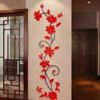 Beautiful Jasmine Flower Crystal Acrylic 3D Wall Stickers ...