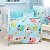 Cute Colorful Doggy 10-Piece Crib Bedding Sets ...