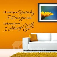 Romantic Words and Quotes I Love You Wall Sticker ...