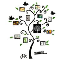 Fantastic Family Tree Pattern Photo Frame 3D Wall Sticker ...