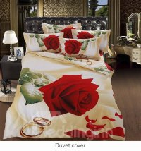 Cuddly Aesthetic Rose with Ring 5-Piece Comforter Sets ...
