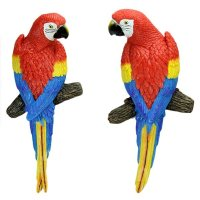 Lovely Decorative Resin Parrot Wall Art Decoration ...