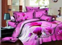 Graceful Rosy Magnolia Print Cotton 4-Piece Duvet Cover ...