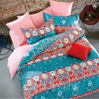 Stylish Abstract Design 4-Piece Cotton Duvet Cover Sets ...