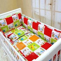 Cabin of Happiness Colorful Plaid Pattern Cotton Crib ...