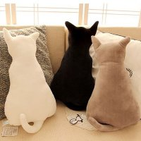 Creative Lovely Cat Shaped Design Throw Pillow ...