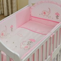 Pink Elephant and Rabbit Print 10-Piece Crib Bedding Sets ...