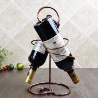 Unique Iron 2-Bottle Wine Rack - beddinginn.com