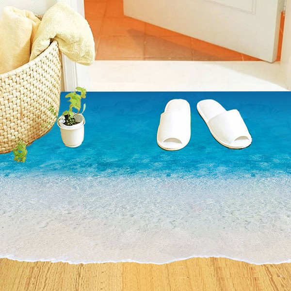 Amazing Sea Beach Waves Removable 3D floor Sticker