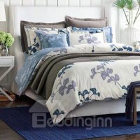 Chic American Country Style Cotton 4-Piece Duvet Cover ...