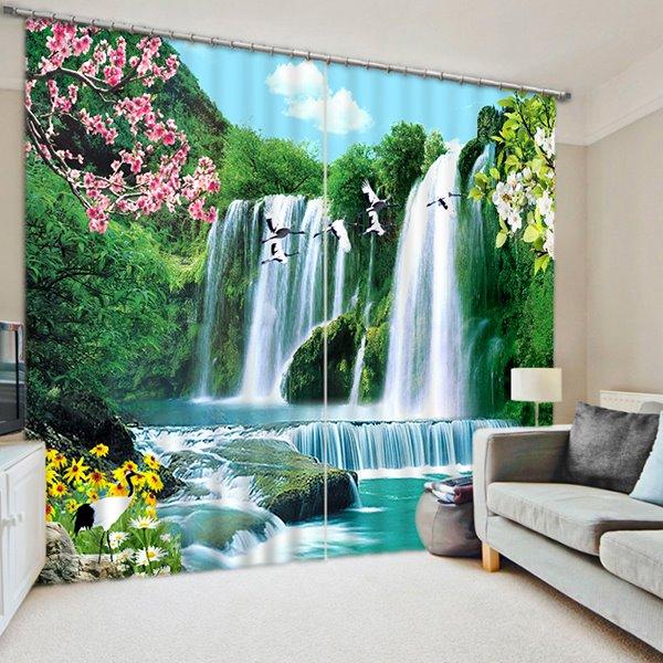 The Wonderful Waterfall Printing Home Decor 3D Curtain