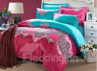 Elegance Wonderful Ethnic Design 4-Piece Cotton Duvet ...