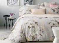 Delicate Magnolia Print 4-Piece Cotton Duvet Cover Sets ...