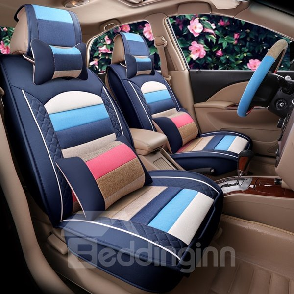 Colorful Lovely Style Design Easy Permeability Durable Universal Car Seat Cover  beddinginncom