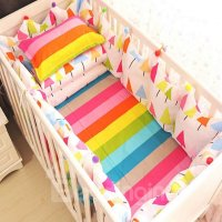 Colorful Rainbow Tree Pattern 9-Piece Cotton Baby Crib ...