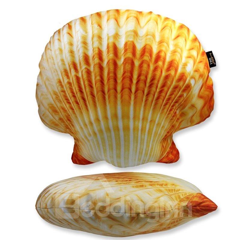 Super Soft Sea Shell Shaped Throw Pillow  beddinginncom
