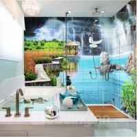 Decorative Waterfalls Natural Scenery Pattern Waterproof ...