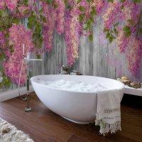 Creative Modern Design Vines Flowers Pattern Waterproof 3D ...