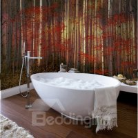 Stylish Creative Design Red Leaves Forest Pattern ...